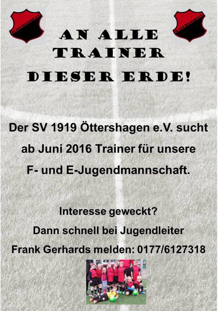 Traineranzeige F-&E-Jugend